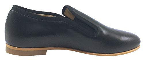 Luccini Boys and Girls Slip-On Smoking Loafer