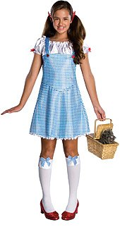 Rubie's Wizard Of Oz Dorothy Costume, Blue/White, (White Witch Wizard Of Oz Costume)