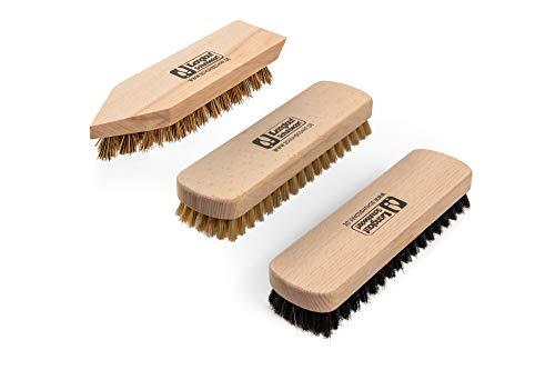 Kit d'entretien de chaussures Kit en bois Boîte à valets style Verona, crème à chaussures à base d'eau Kaps avec brosses… 3