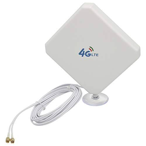 YaeCCC 4G LTE Antenna SMA Antenna 35dBi with Suction Cup Dual Mimo SMA Male Connector 3G/GSM WiFi Signal Booster for…