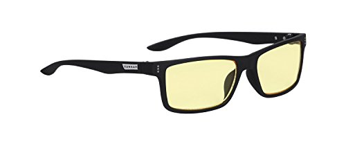 Gunnar Optiks VER-00101 Vertex Computer glasses, block blue light, Anti-glare, minimize digital eye strain, Onyx/Amber