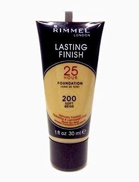 **PACK OF 2** Rimmel of London 200 Soft Beige 25 Hour Foundation Makeup