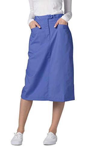 Adar Universal Mid-Calf Length Angle Pocket Skirt - 706 - Ceil Blue - Size 8