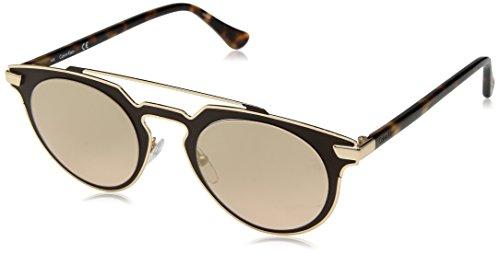 Calvin Klein Women's Ck2147s Round Sunglasses, Chocolate, 48 mm by Calvin Klein