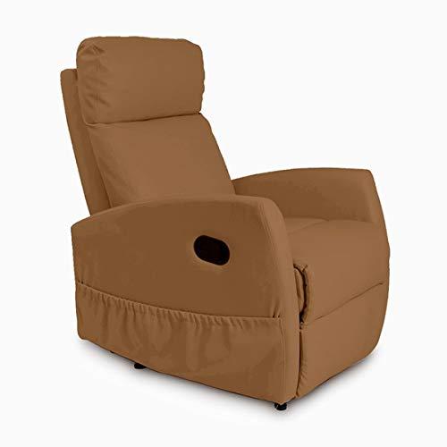 Cecotec Sillón Relax de Masaje Compact, Función calor, 5 Programas, 3 Intensidades, 8 Motores, Mando de control, Polipiel de calidad, Bolsillo ...