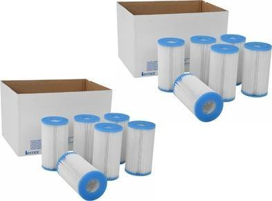 Intex Pool Easy Set Type A Replacement Filter Pump Cartridge (12 Pack) | 29000E ()