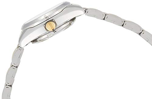 Seiko 5 Automatic Dress Watch White Dial Stainless Steel Two Tone