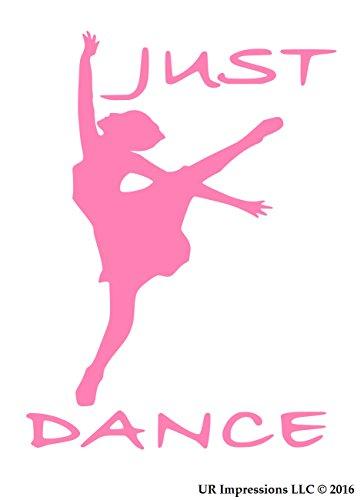 UR Impressions Pnk Just Dance Decal Vinyl Sticker Graphics for Cars Trucks SUV Vans Walls Windows Laptop|Pink|5.5 X 4.3 Inch|URI280 (Pole Dance Wall Decal)