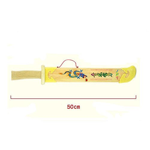 NOQ Yellow Dragon Sword/Wooden Weapon Model/Martial Arts Props/Home Furnishing Decoration/Kids Toys/Cosplay