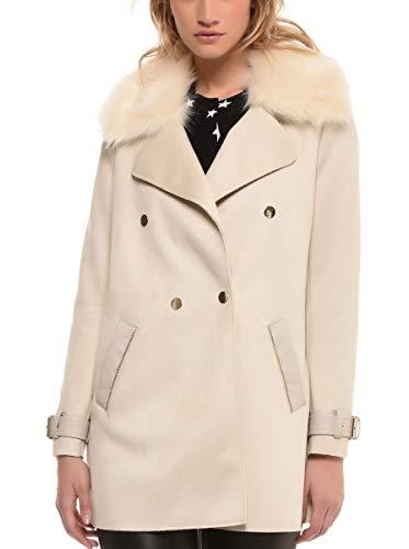 4 Beige Manteau 3 Couleur Femme Col Polyester Synthetique 38 Poil Arturo Taille qZ1EAww