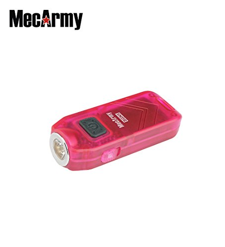SGN5 560 lumens USB Rechargeable Person Attack Alarm EDC flashlight, Mecarmy (Rose color)