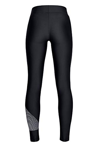 Under Armour Women's HeatGear Armour Graphic Leggings, Black (001)/Metallic Silver, XX-Large Tall