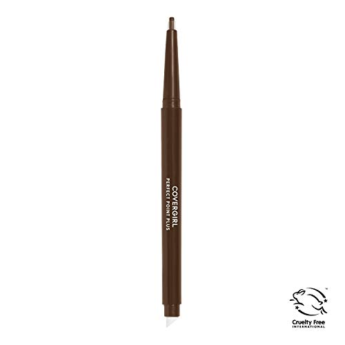 COVERGIRL Perfect Point Plus Eyeliner Pencil, Espresso 210 (1 Count) (Packaging May Vary) Self Sharpening Eyeliner Pencil with Soft Smudger Tip