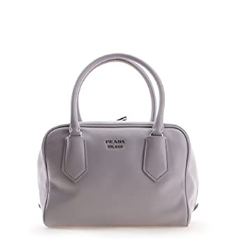 aadd696084e1 Amazon.com  Prada Milano Leather Tote Womens Handbag Shoulder Bag - 100%  Guaranteed Authentic - White Fashion Purse Bag for Ladies  Clothing
