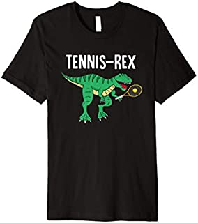 [Featured] Tennis-Rex | Funny T-Rex Dinosaur Dino Tennis Tennissaurus Premium in ALL styles | Size S - 5XL
