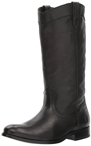 FRYE Women's Melissa Pull ON Western Boot, Black, 8.5 M US