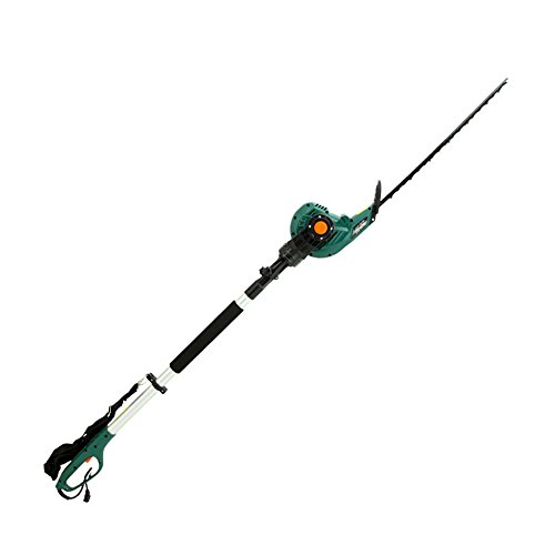 DOEWORKS 4AMP Corded 2 in 1 Multi-Angle Telescopic Pole Hedge Trimmer, 18