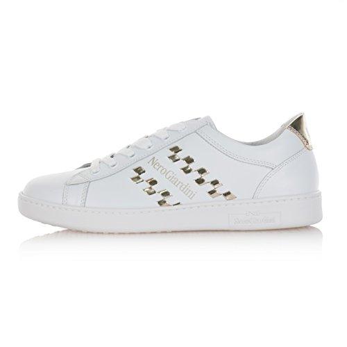Zapatos Nero Giardini Mujer Zapatillas Deportivas Bajas de piel color blanco p717270d707