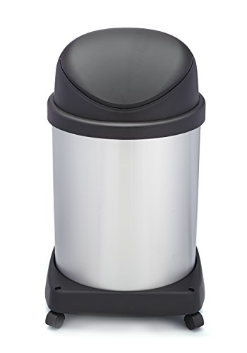 - Shop-Vac Shop-Can a Company Stainless Steel Waste Container with Dolly and Casters and Flipper Lid, 16 Gallon