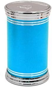 uxcell 灰皿 ブルー シェル 自動車 ポータブル 旅行 タバコ シリンダーホルダーカップ ライト付き