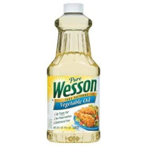 Wesson Pure 100% Natural Vegetable Oil 48 oz(Pack of 9)