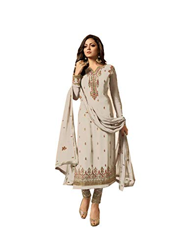 White Kameez Salwar - Delisa Indian/Pakistani Fashion Salwar Kameez for Women 01 (White, MEDIUM-40)