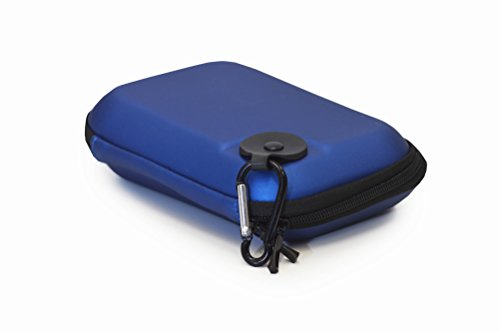 EMR Shielding Solutions Hard Carrying Case EVA Carrying Case (Blue) for RF Explorer Models, 6-Inch GPS, Electronic Devices, - Eva Gps Hardshell