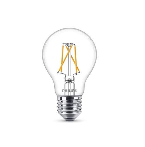 Philips Bombilla WarmGlow LED de filamento, casquillo gordo E27, 5.5 W equivalentes a 40