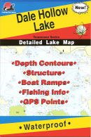 Dale Hollow Lake Fishing Map. (Tennessee Lake Maps, L199)