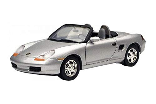 Showcasts Porsche Boxster Convertible, Silver 73226WSV - 1/24 Scale Diecast Model Toy Car
