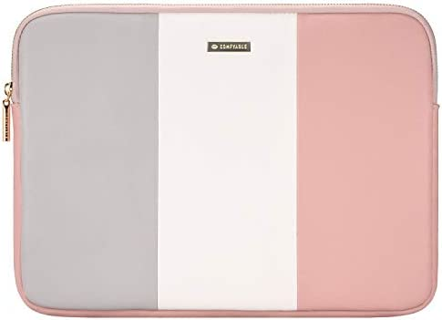 Comfyable Laptop Sleeve for 13-13.3 Inch MacBook Pro & MacBook Air- Waterproof Cover Computer Case for Mac-Grey & White & Pink