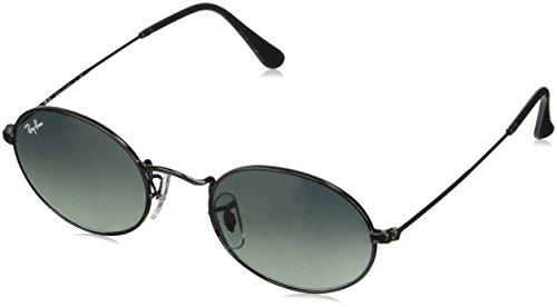 Ray-Ban RB3547N Oval Flat Lenses Sunglasses, Black/Grey Gradient, 51 ()