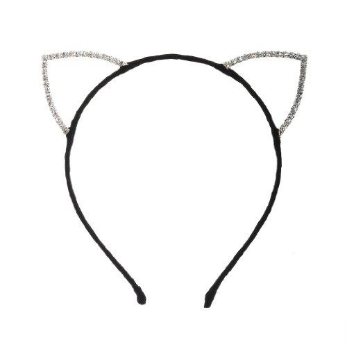 Rhinestone Cat Ears (Dani's Choice Rhinestone Cat Ear Candy Color Headband (Black))
