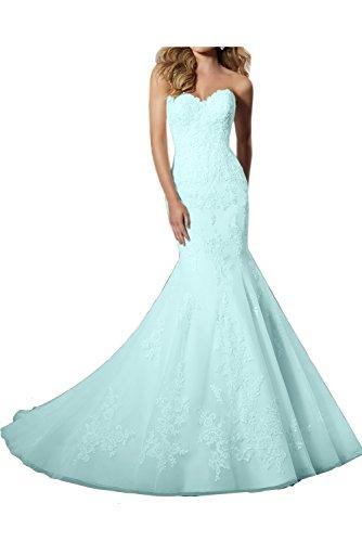 mujer para Vestido celeste azul Topkleider wEfRxx