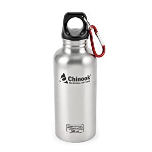 Chinook Natural Cascade Wide Mouth Stainless Steel Bottle (16-Ounce)