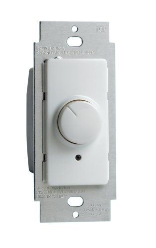 - Leviton RPI06-1LW Decora 600-Watt SP and 3 Way Rotary Dimmer, White