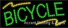 Bicycle LED Sign High Impact, Energy Efficient