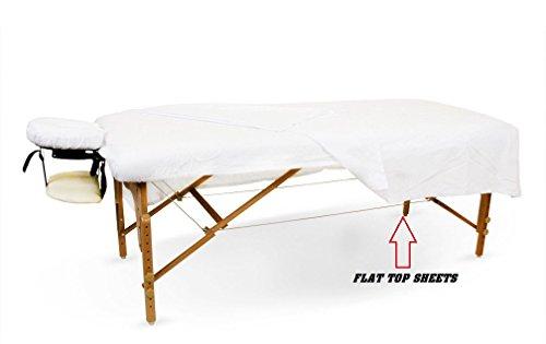 6-New-White-Massage-Table-Flat-Draw-Sheet-Muslin-T130-54x80