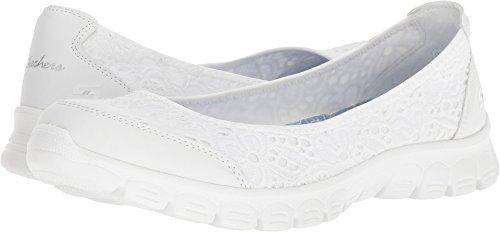 Skechers EZ Flex 3.0 Be You Womens Slip On Skimmer Sneakers White 9 by Skechers
