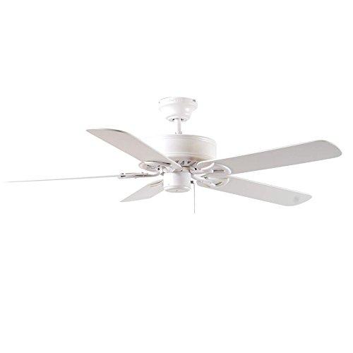 (Harbor Breeze BDB52LW5N Classic 52-in White Downrod Flush Mount Ceiling Fan Energy Star)