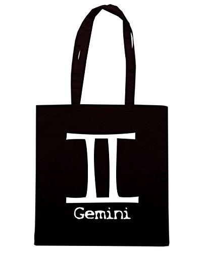 T-Shirtshock - Bolsa para la compra T0213 gemelli religioni celtic Negro