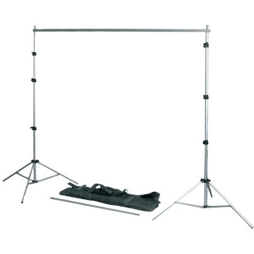 Interfit COR756 102  x 124 Inch Background Support System with bag (Black) by Interfit