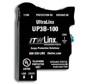 UltraLinx 66 Block/100V Clamp/350mA Fuse (Catalog Category: Installation Equipment / Line and Power Protection)