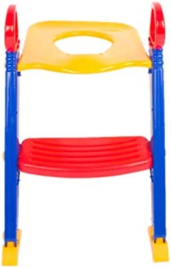 DUOER home-Orinales Paso de la Escalera del baño del niño pequeño del niño del niño pequeño Paso del Asiento del Inodoro, Escalera de Entrenamiento Plegable del baño: Amazon.es: Hogar