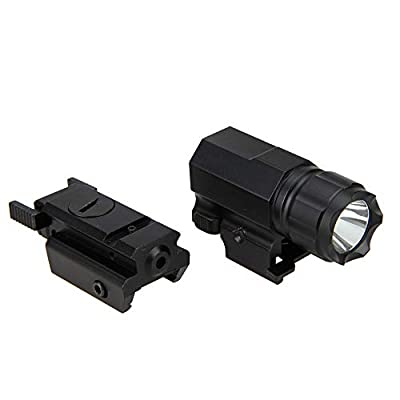 GOTICAL 2 in 1 Tactical Pistol Red Dot Laser Sight + 180 Lumen Cree LED Flashlight Combo Rifle/Pistol Flashlight Laser Combo
