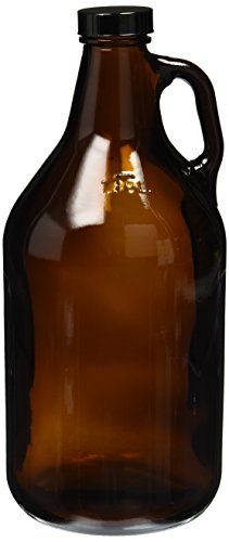 Home Brew Ohio CF-GRBR-4N71 Amber-Growler-1/2-Gal Growler, 1/2Gal, Amber