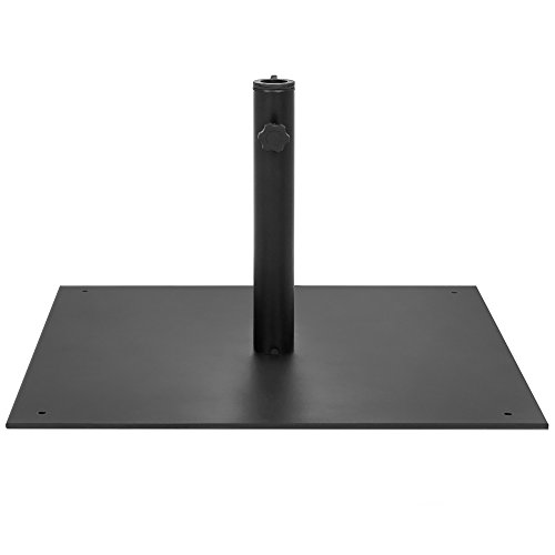 Best Choice Products 38.5lb Steel Square Patio Umbrella Base Stand w/Tightening Knob and Anchor Holes - Black by Best Choice Products (Image #1)