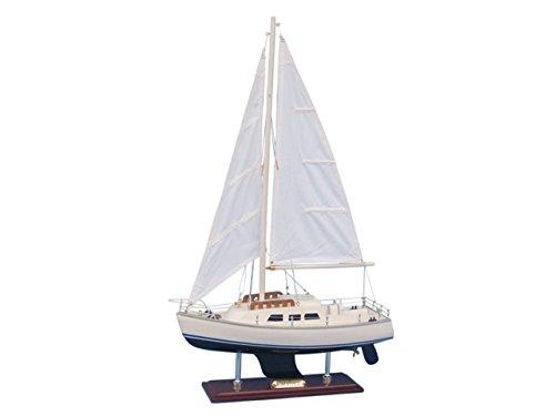 (Hampton Nautical Wooden Catalina Yacht Model, 24