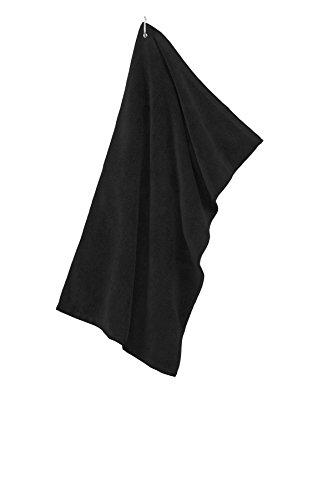 Golf Towel Grommeted Microfiber (Port Authority Grommeted Microfiber Golf Towel, Black, OSFA)