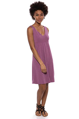 Texere Women's Empire Waist Casual Dress (Hinata, Heather Plum, S) Summer Dress
